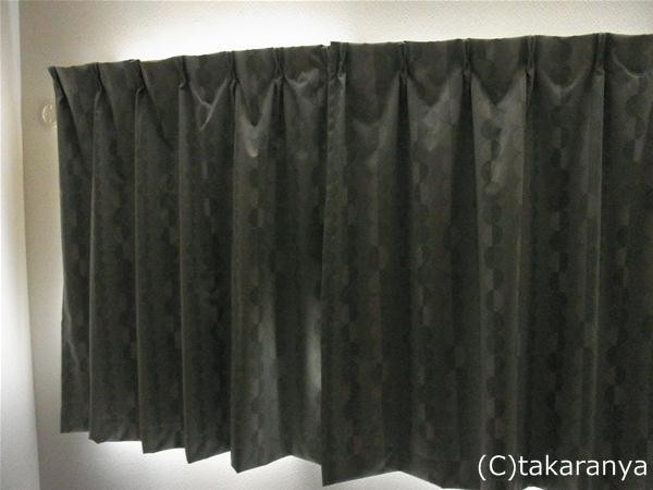 カーテンによる遮光の様子
