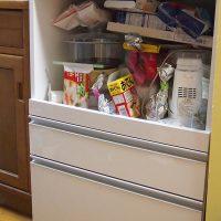 キッチンで使っている60cm幅の収納ラック