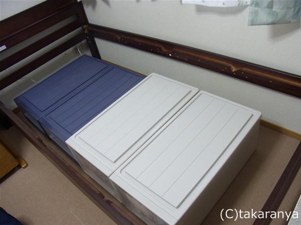 ベッド下の収納はやっぱりフィッツだよね!