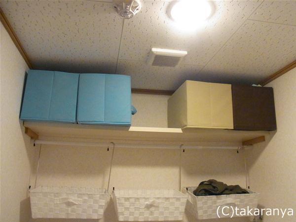 不織布製のボックスで生理用品を整理